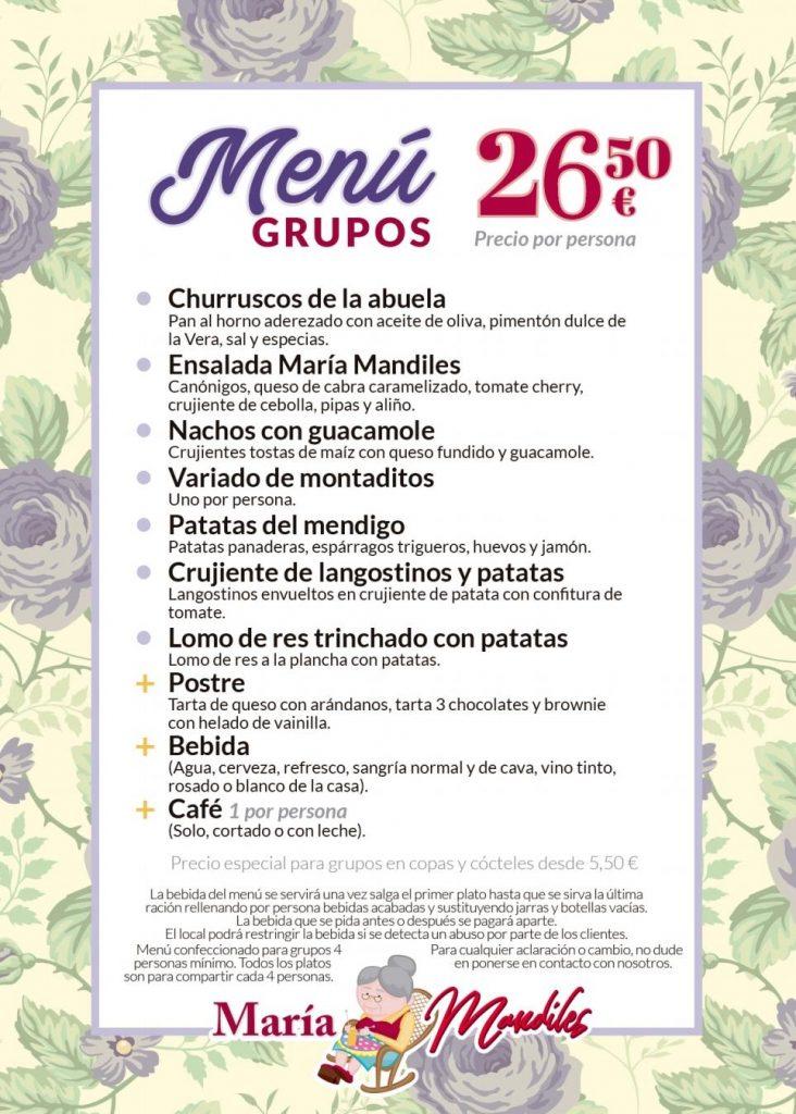 Menú Grupo 26,50